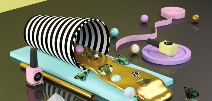 Nueva gráfica de Toy Nail Polish, por Dani Aristizábal