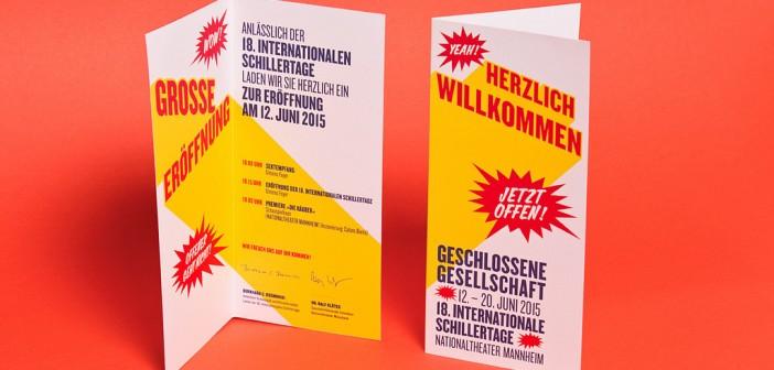 Identidad del festival International Schillertage, por Formdusche