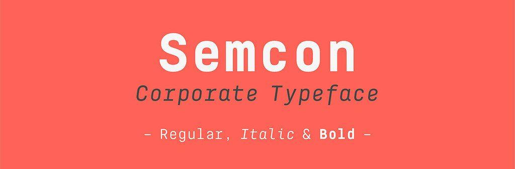Semcon, la nueva familia tipográfica de Atipo